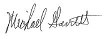 Michael Garrett Signature